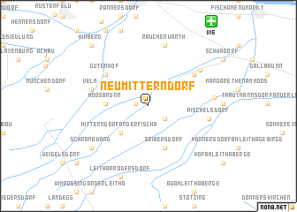 map of Neumitterndorf
