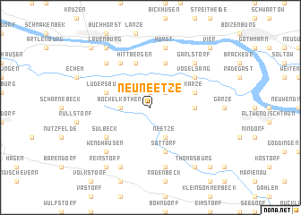 map of Neu Neetze