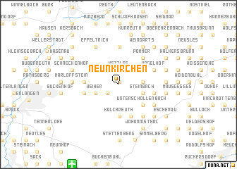 map of Neunkirchen