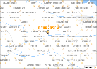 map of Neu Pansow