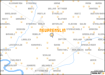 map of Neu Premslin