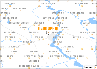 map of Neuruppin