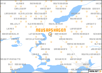 map of Neu Sapshagen