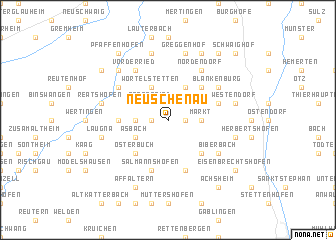 map of Neuschenau