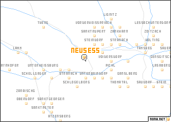map of Neusess