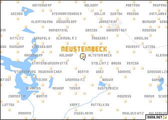 map of Neu Steinbeck