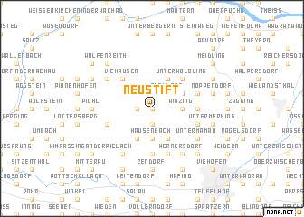 map of Neustift