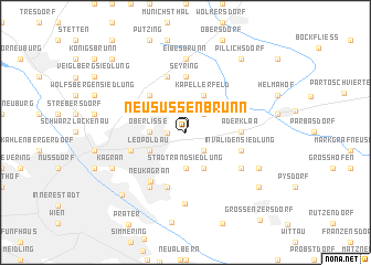 map of Neusüßenbrunn