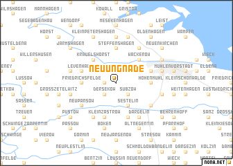 map of Neu Ungnade