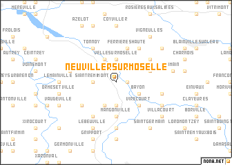 map of Neuviller-sur-Moselle