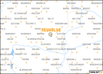 map of Neuwalde