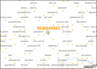 map of Neu Wehnsen