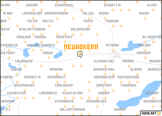 map of Neu Wokern