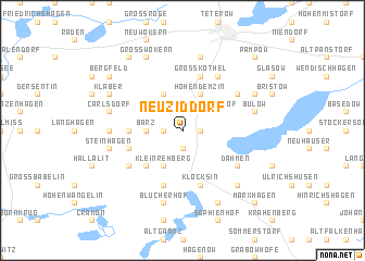 map of Neu Ziddorf