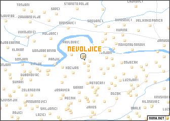 map of Nevoljice