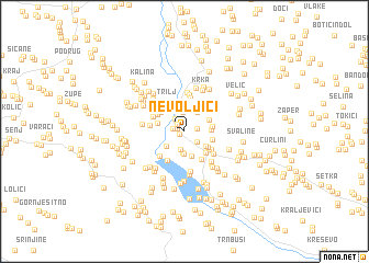 map of Nevoljići