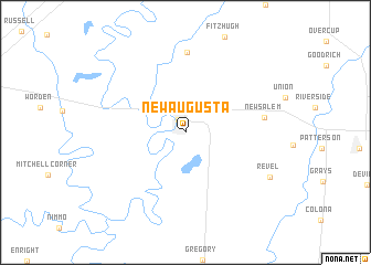 map of New Augusta