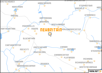 map of New Britain