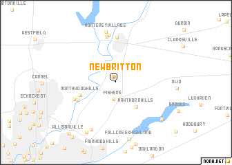 map of New Britton