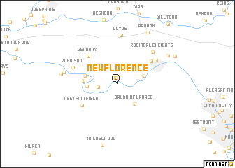 map of New Florence