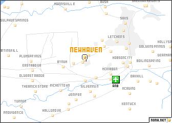 New Haven (United States - USA) map - nona.net