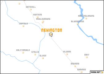map of Newington