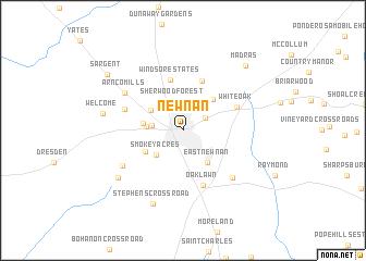 Newnan Georgia Map.Newnan United States Usa Map Nona Net