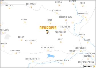 map of New Paris