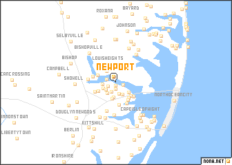 Newport United States USA map nonanet