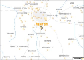 Newton United States USA map nonanet