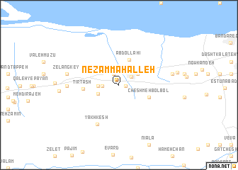 map of Nez̧ām Maḩalleh