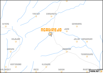 map of Ngadirejo