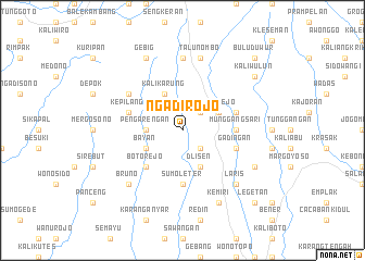 map of Ngadirojo