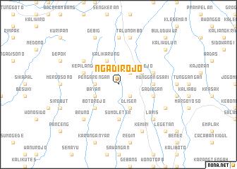 map of Ngadirojo