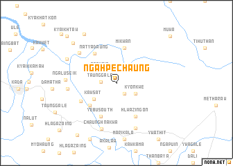 map of Ngahpechaung