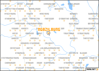 map of Ngazilaung