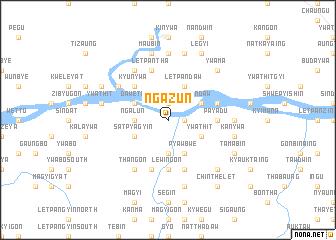 map of Ngazun
