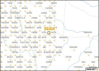 map of Ngigh
