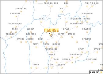 map of Ngoasé