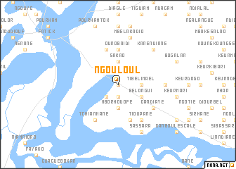 map of Ngouloul