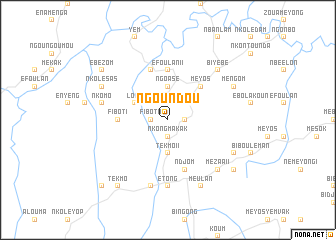map of Ngoundou