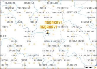 map of Ngqakayi