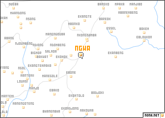 map of Ngwa