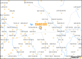 map of Nhã Nam