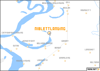 map of Niblett Landing