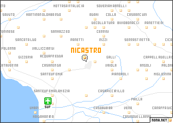 map of Nicastro