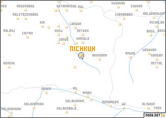 map of Nīch Kūh