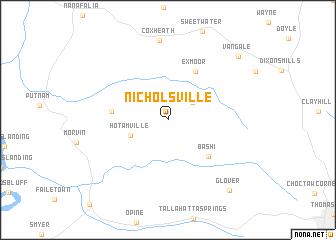 map of Nicholsville