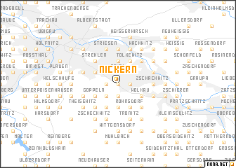 map of Nickern