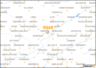 map of Nidda